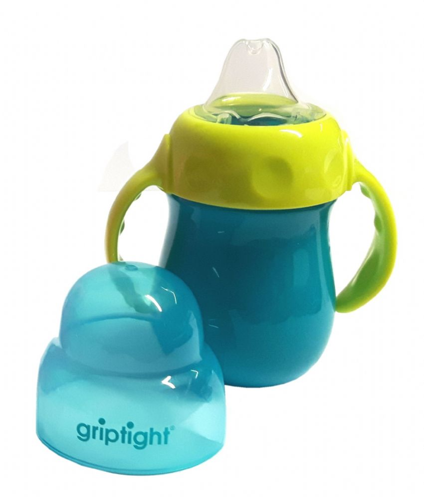 Griptight - Handled Sipper Trainer Cup - Turquoise/Lime Green